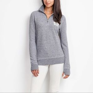 Roots Canada quarter zip sweatshirt